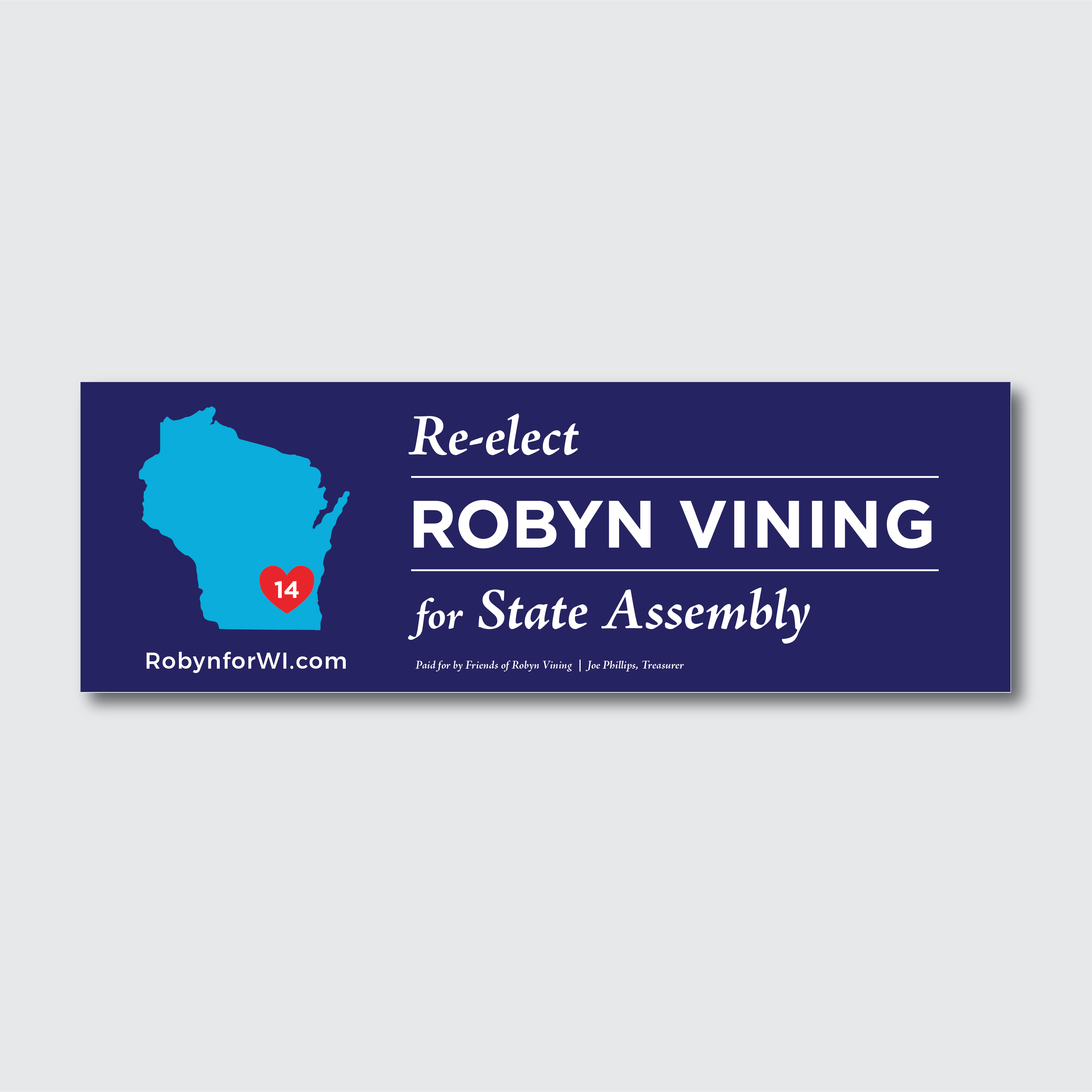 Set of Two Bumper Stickers