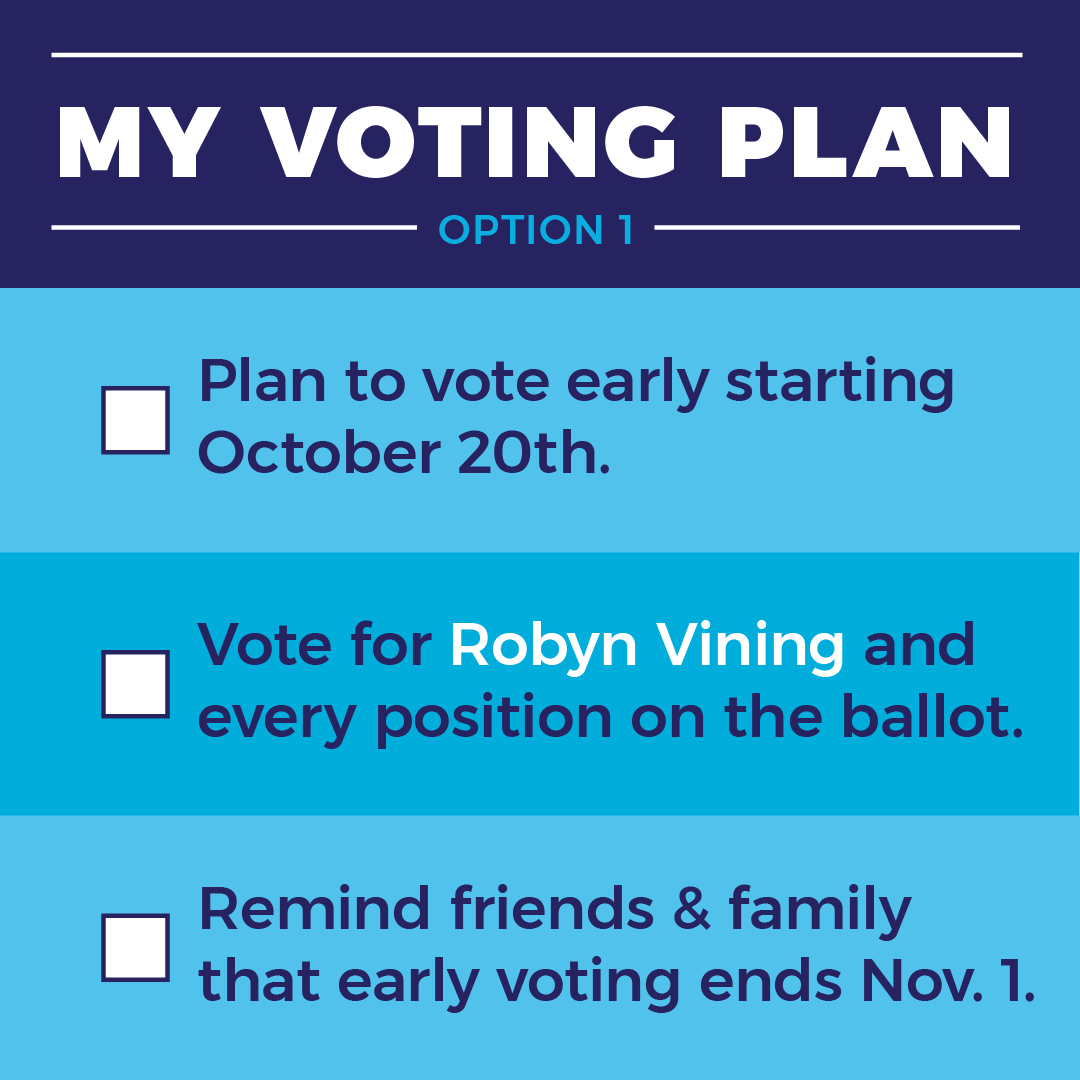 early voting reminder starts Oct. 1